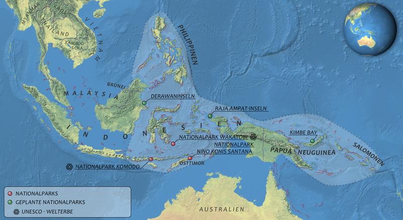 Das Korallendreieck in Südostasien
