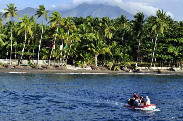 Transfer zum Safariboot in Negros
