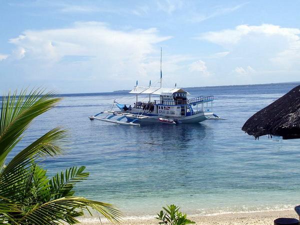 Une visite à une plage isolée entre plongées pendant le safari aux Philippines.